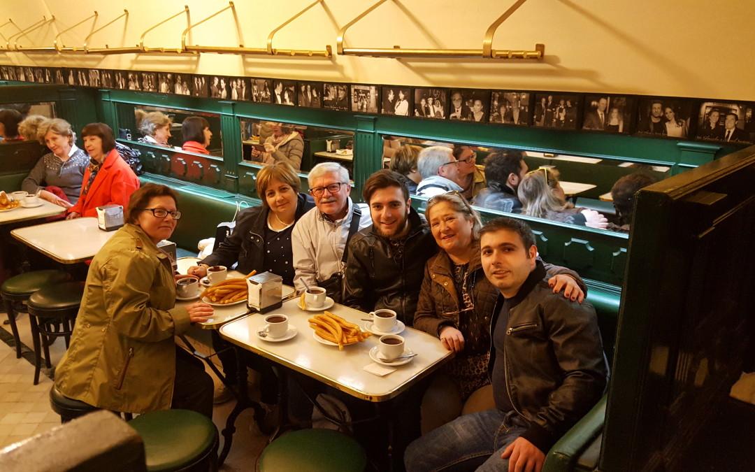 Visita de Giovanni Schiavone a Madrid